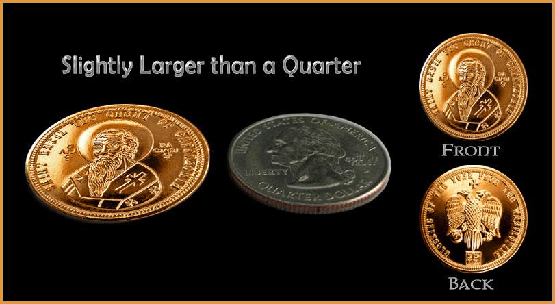 The Beautifully Minted Vasilopita Coin